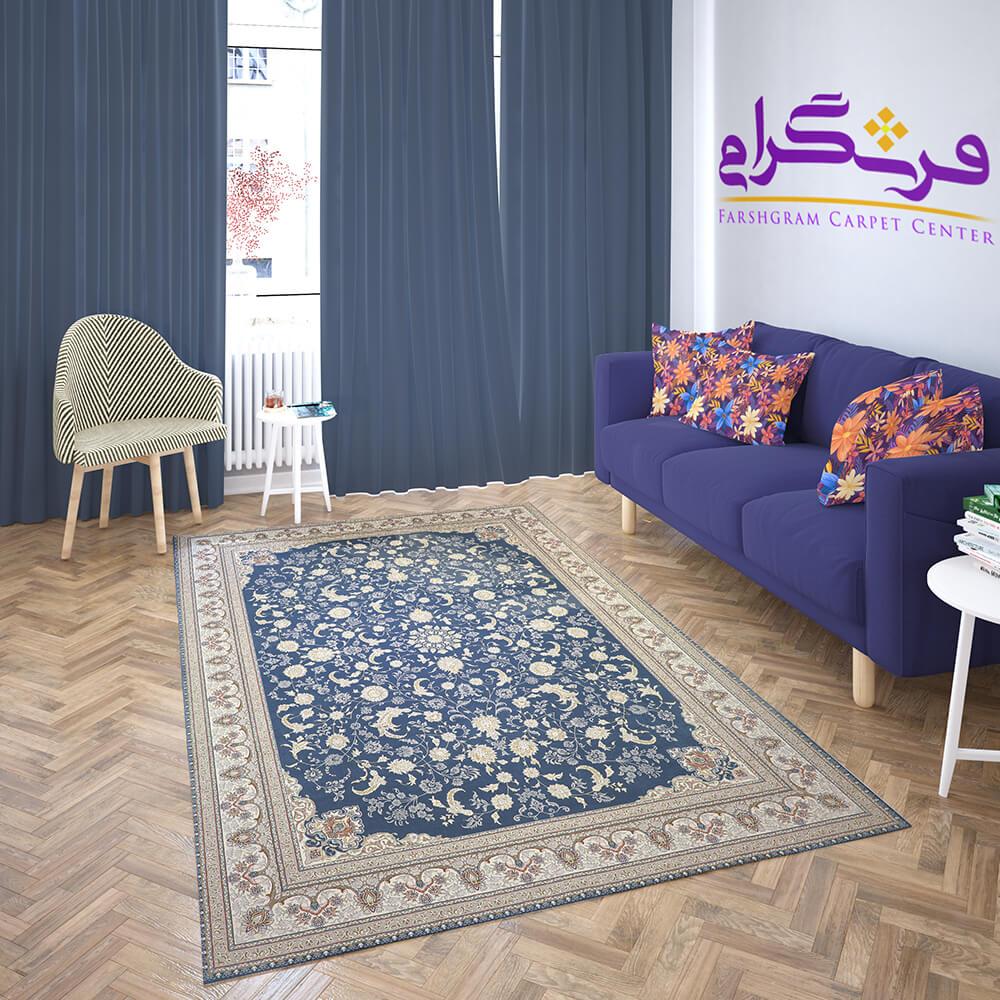 فرشگرام   خرید اینترنتی فرش ماشینی   فرش طرح ارغوان کاربنی مقالات فرش  ست کردن مبل و فرش